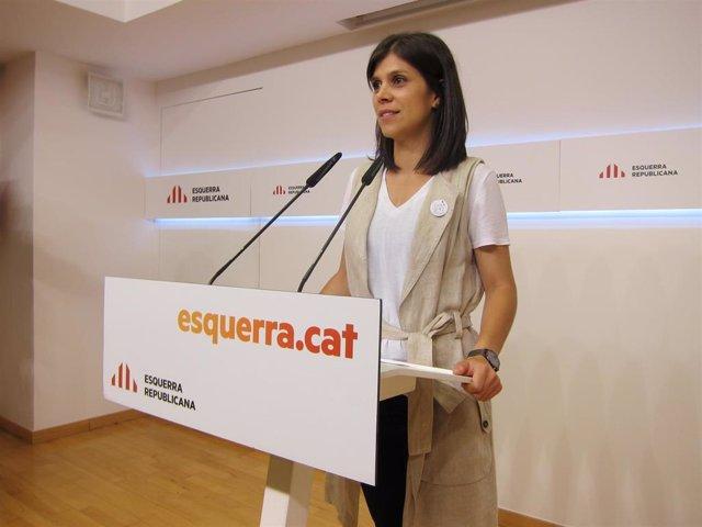 La portavoz de ERC, Marta Vilalta, en una fotografía de archivo.