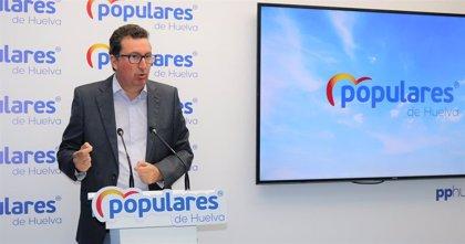 """El PP de Huelva pide al PSOE """"coherencia"""" para reclamar la llegada del AVE al Gobierno """"como hicieron con Rajoy"""""""