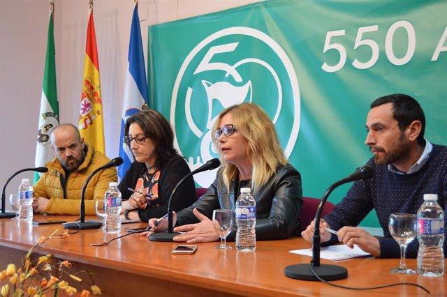 La alcaldesa de San Juan del Puerto, Rocío Cárdenas (PSOE).