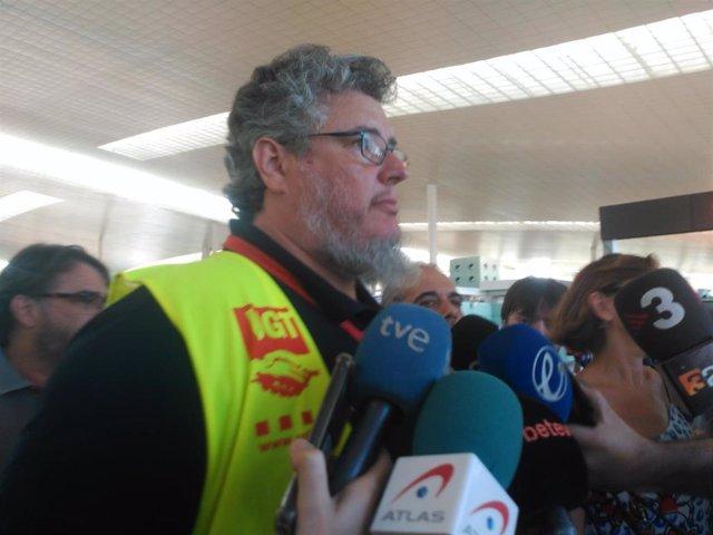 El Portavoz De UGT Iberia Barcelona, Omar Minguillón