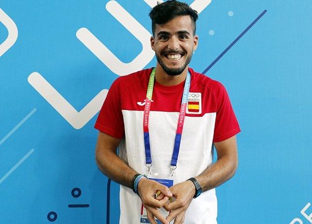 El tenista Antomi Ramos, abanderado español en los Juegos Mediterráneos de Playa.