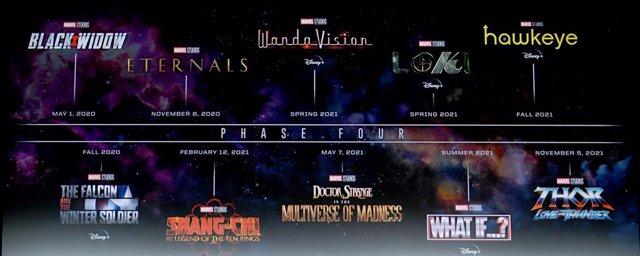 Calendario de la Fase 4 de Marvel en la Comic-Con 2019