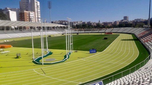 Estadio de Vallehermoso tras sus obras de remodelación.