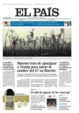 Portada El País Domingo 25 de agosto