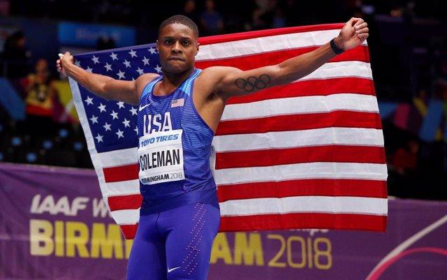El velocista estadounidense Christian Coleman