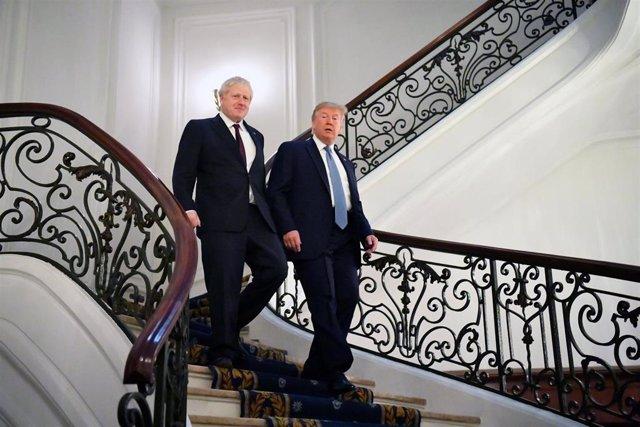 Boris Johnson y Donald Trump en la cumbre del G7 en Biarritz