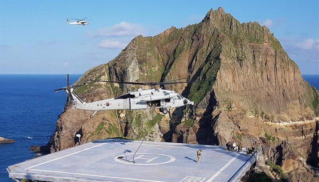 Ejercicios militares en Dokdo/Takeshima