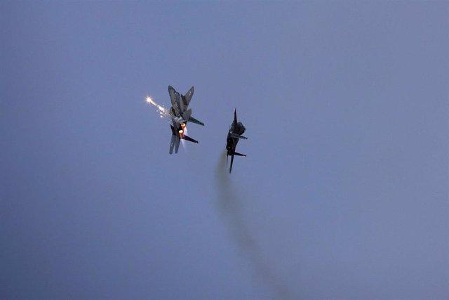 Aviones de combate F-15 de Israel