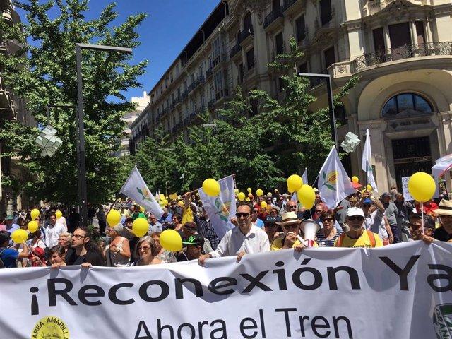 Una de las protestas de Marea Amarilla, en imagen de archivo