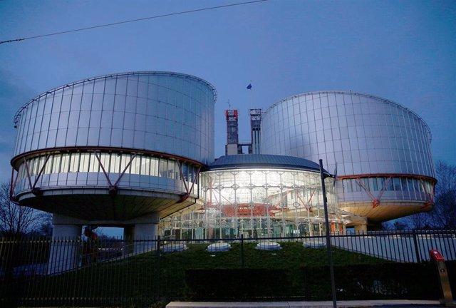 Foto de archivo del Tribunal Europeo de Derechos Humanos en Estrasburgo, Francia