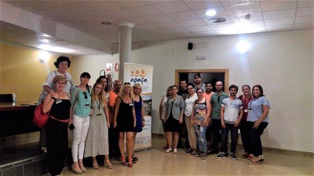 Los alumnos de un taller de empleo visitan la sede de Apafa