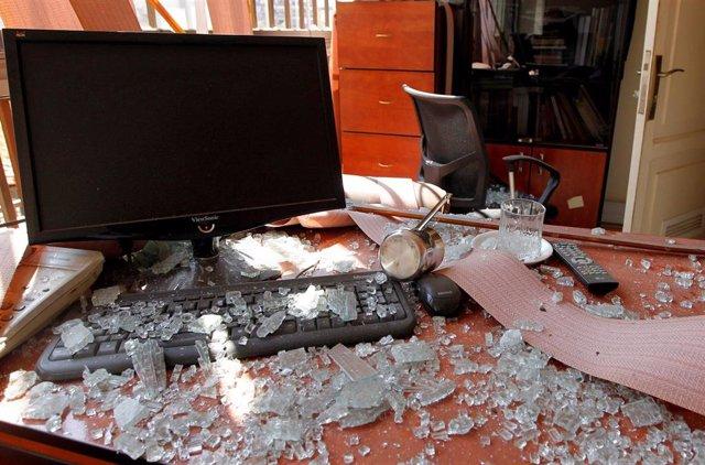 Explosión de un dron israelí cerca de las oficinas de Información de Hezbolá