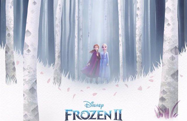 Fragmento del póster oficial de Frozen 2