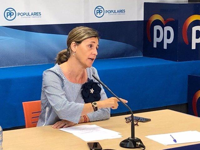 La portavoz adjunta del PP en Les Corts, Elena Bastidas