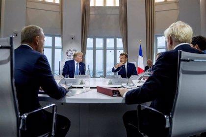 Macron refuta a Trump y subraya que el G7 es un grupo informal y el mandato para negociar con Irán, también