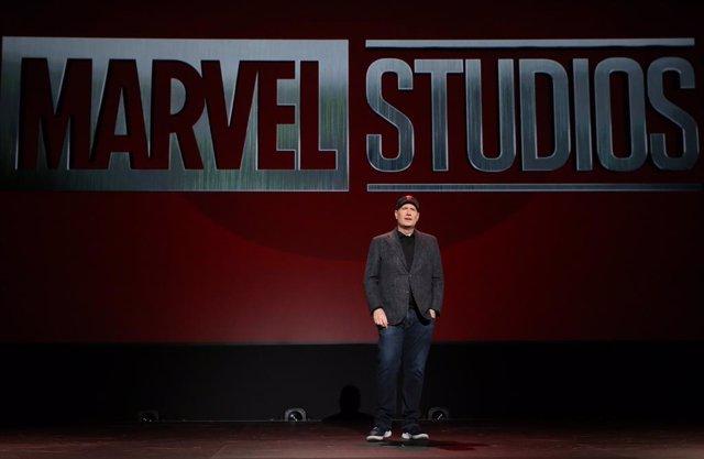 Kevin Feige durante la D23 de Disney