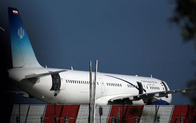 Avión iraní que transporta a Zarif a Anglet para entrevistarse con dirigentes presentes en la cumbre del G7 de Biarritz