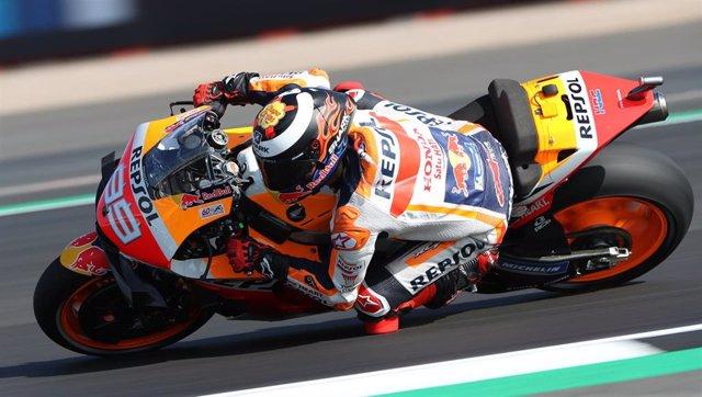 Jorge Lorenzo en el Gran Premio de Gran Bretaña