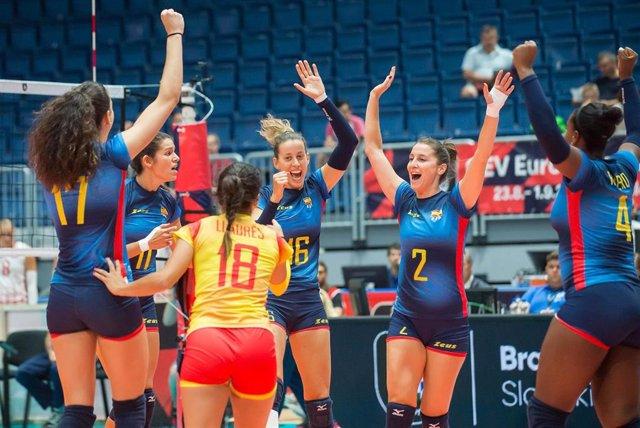 La selección española de voleibol femenina en el Europeo 2019