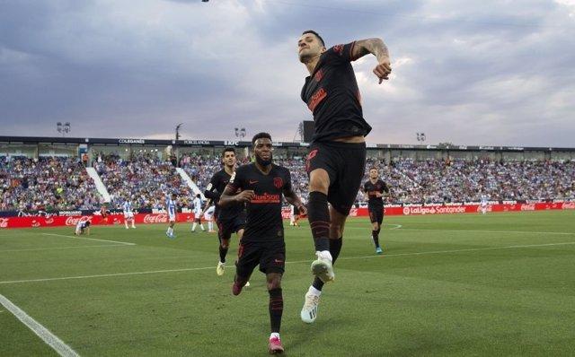 Vitolo marca el único tanto del Atlético en Butarque
