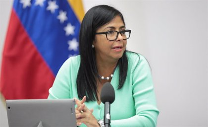 """Venezuela.- Delcy Rodríguez asegura que el pueblo de Venezuela rechazará los """"planes terroristas contra los servicios"""""""