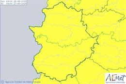 Avisos por tormentas en Extremadura