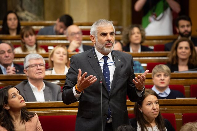 El president de Cs en el Parlament i membre de l'Executiva Nacional del partit, Carlos Carrizosa.