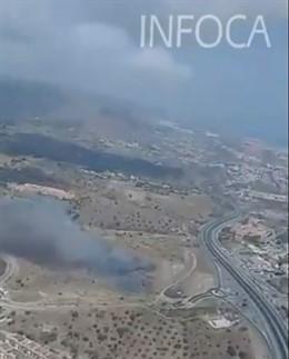 Incendio en Rincón de la Victoria