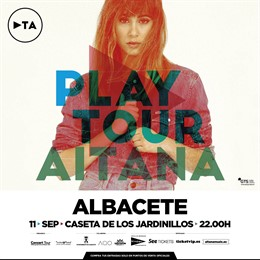 Cartel Aitana en la Feria de Albacete
