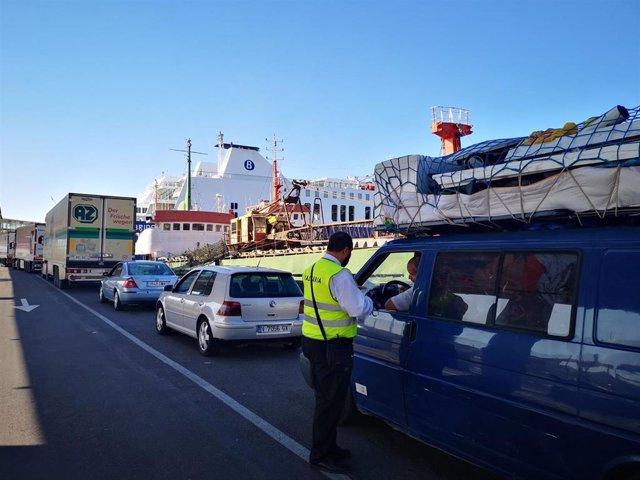 Embarque en el Puerto de Almería