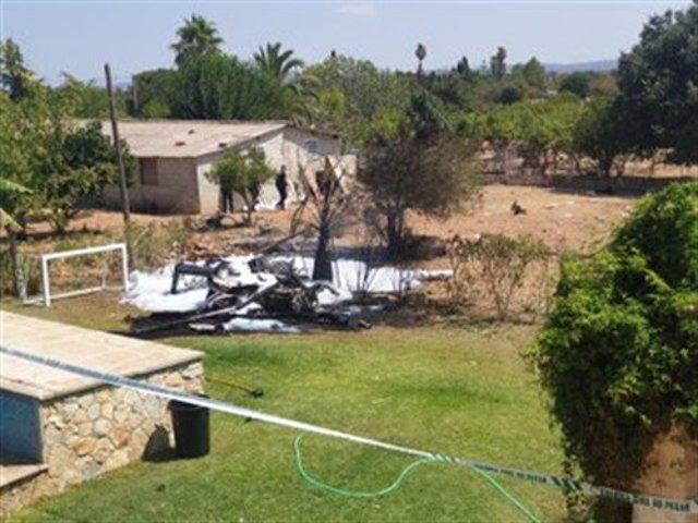 Accidente aéreo en Inca, Mallorca.