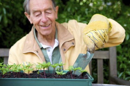 La jardinería mantiene activo el cerebro y ayuda mantener la musculatura de los mayores