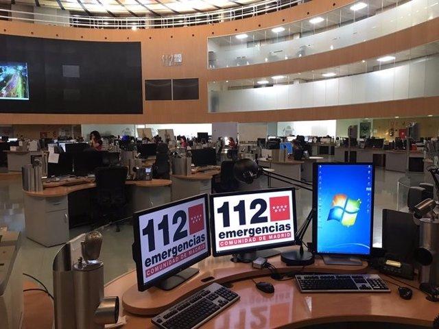 Imagen de recurso del centro de coordinación de llamadas del 112 Comunidad de Madrid.