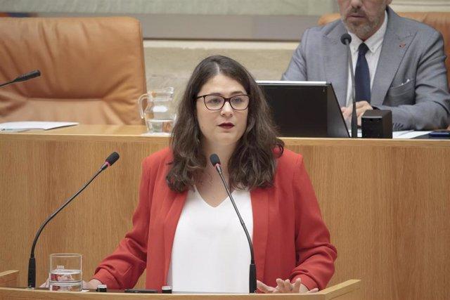 Segunda sesión del debate de investidura de la candidata socialista a la presidencia de la Rioja