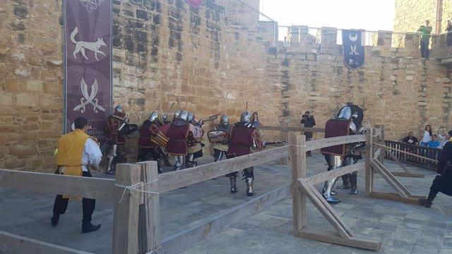 Exhibición de combate medieval.