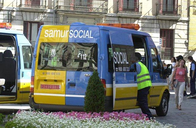Imagen de archivo de un vehículo de Samur Social.