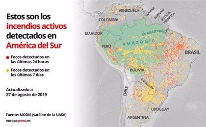 EpData.- Los incendios en el Amazonas, en mapas y gráficos