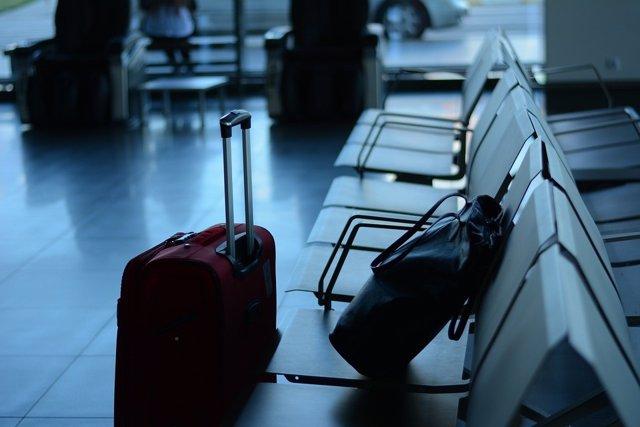 Equipaje en un aeropuerto