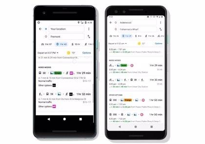 Portaltic.-Google Maps amplía las indicaciones de ruta en transporte público con opciones de viaje compartido y en bicicleta