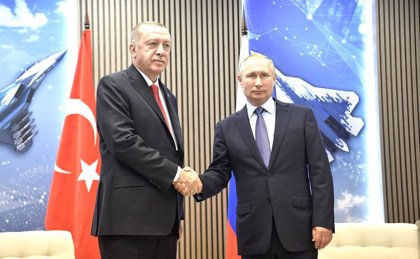 Siria.- Putin y Erdogan coinciden en su preocupación por Idlib pero discrepan sobre la forma de actuar
