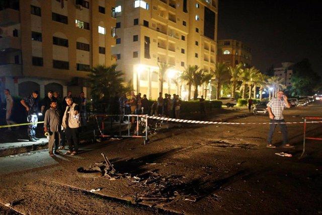 Explosión en un puesto de control policial en Gaza