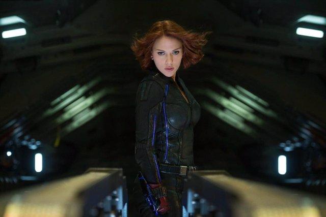 Scarlett Johansson como Viuda Negra en Vengadores: La era de Ultrón