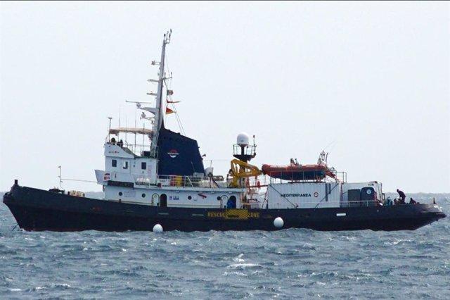 Mare Jonio, barco de rescate de la ONG italiana Mediterranea Saving Humans