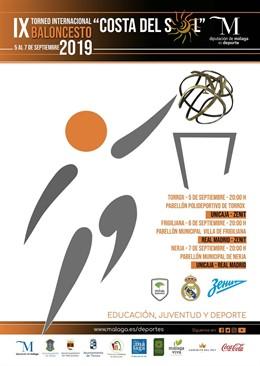 Cartel del torneo baloncesto Costa del Sol