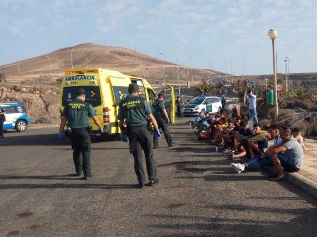 Inmigrantes llegados a Fuerteventura