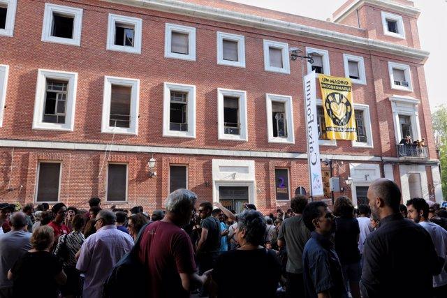 """La Ingobernable continuará """"llena de actividades"""" en el edificio okupado para """"defenderse"""" ante los planes de desalojo"""