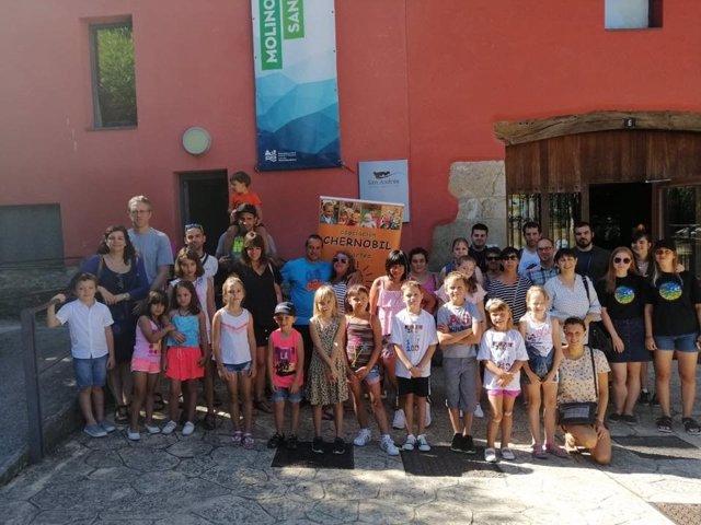 Niños de Ucrania acogidos en Euskadi y Navarra durante el  verano.