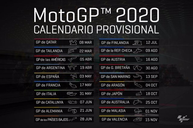 Calendario Gp.El Gp Finlandia Novedad En El Calendario Provisional De Motogp Para 2020