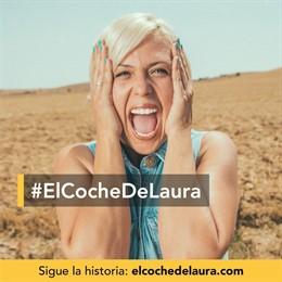 Imagen promocional de la campaña #ElCocheDeLaura de ILERNA Online