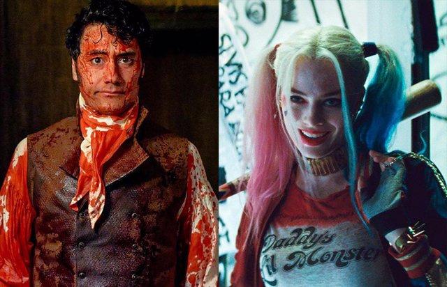 Taika Waititi en 'Lo que hacemos en las sombras' y Margot Robbie como Harley Quinn en 'Escuadrón Suicida'